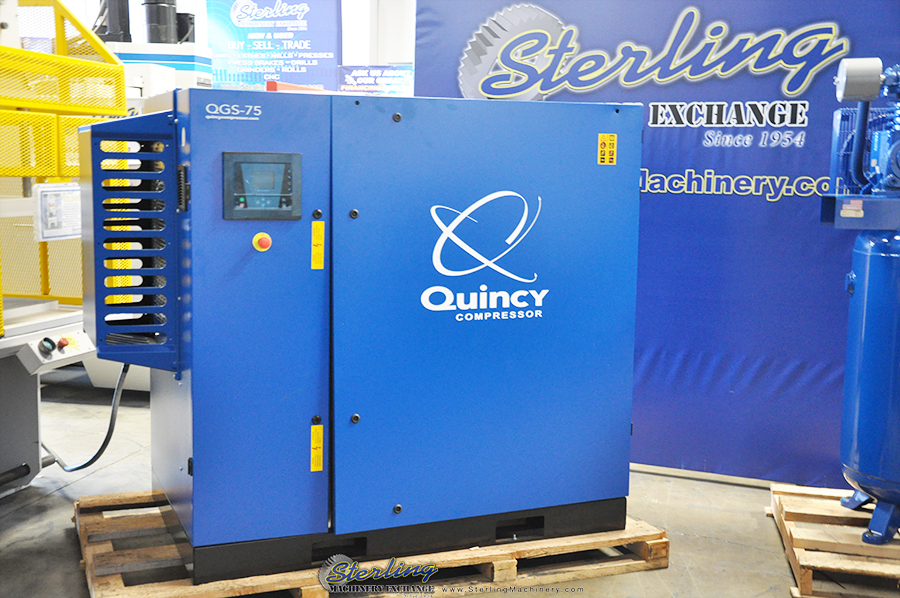 Brand New Quincy Rotary Screw Air Compressor With Sound
