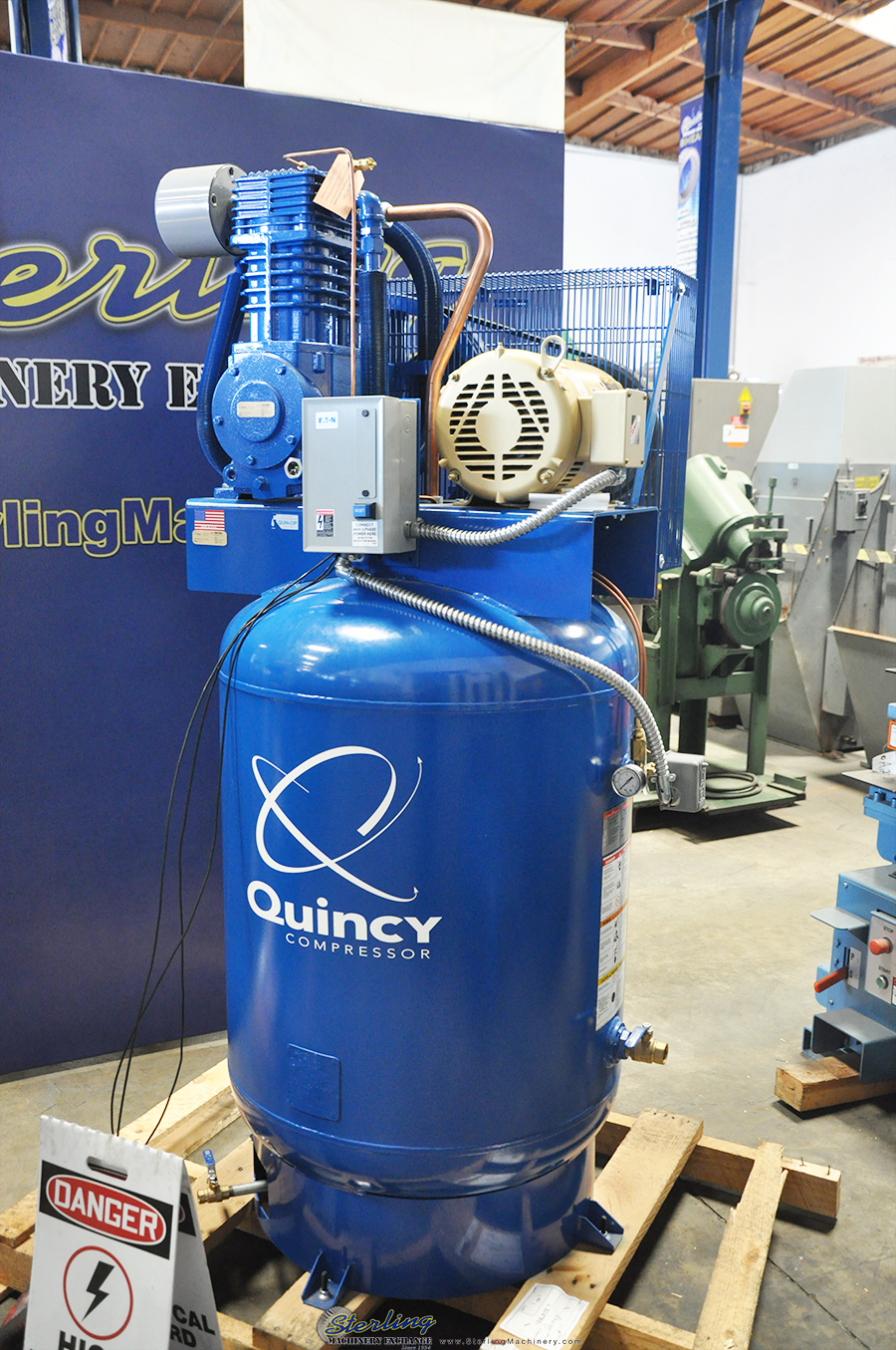 Brand New Quincy Simplex Reciprocating Vertical Air
