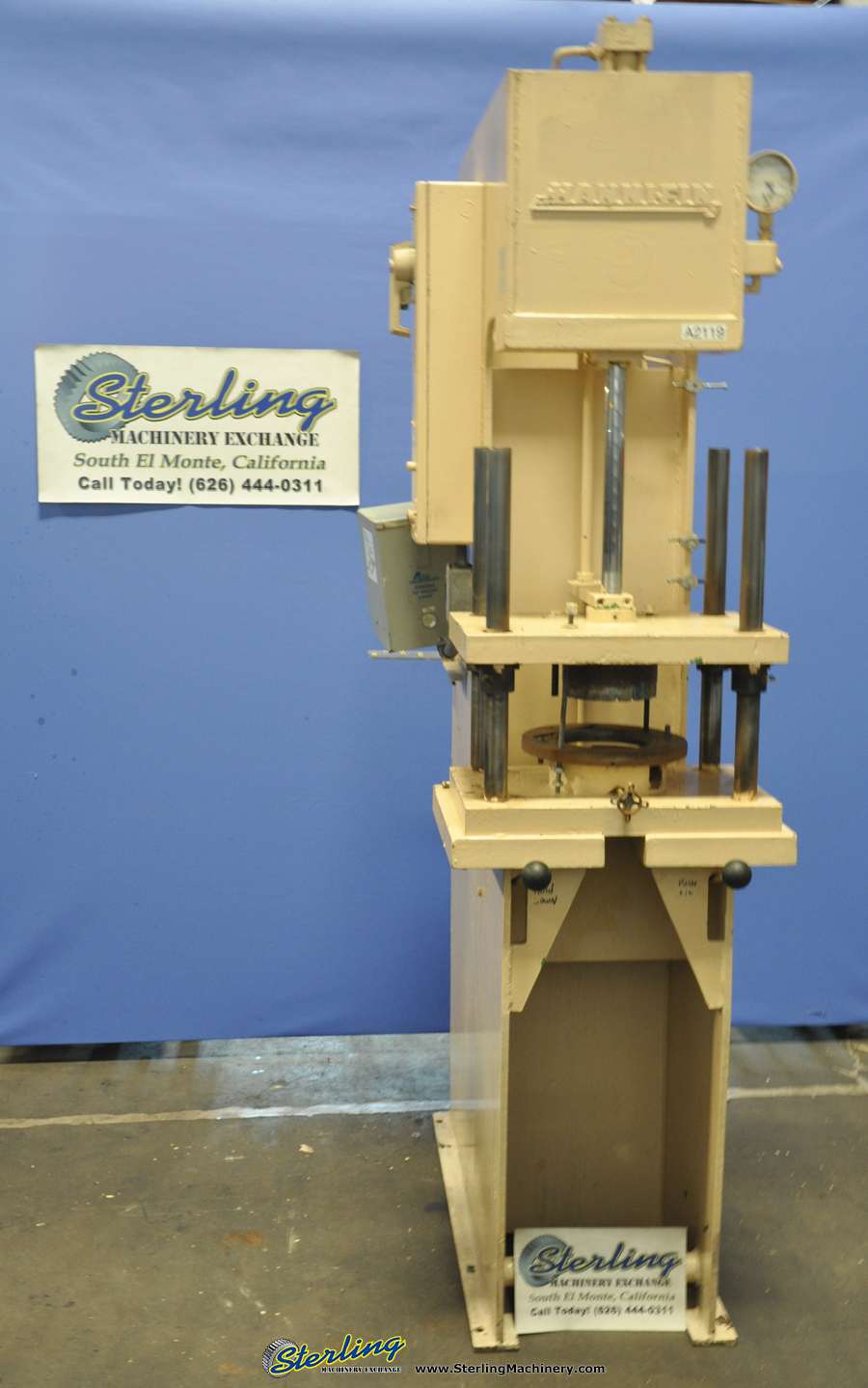 Used Hannifin C Frame Hydraulic Press Sterling Machinery