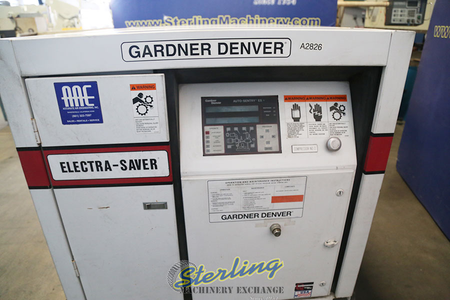 Used Gardner Denver Electra Saver Turn Valve Rotary Screw