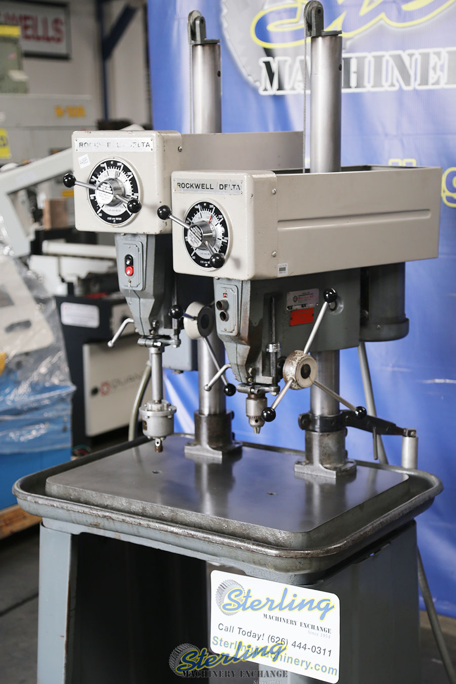 Used Rockwell Delta 2 Head Gang Drill Press Sterling Machinery