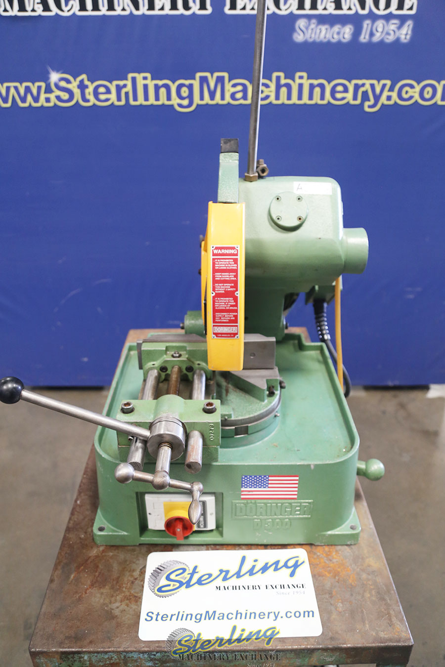 Used Doringer Low Turn Manual Vise And Manual Down Feed