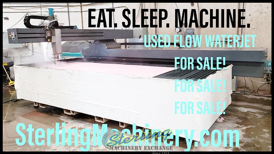 6' x 13' Used Flow CNC Waterjet Cutting System Mdl  Mach 2b
