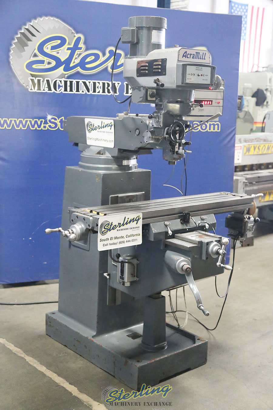 Used Acra Vertical Milling Machine with Variable Speed ...