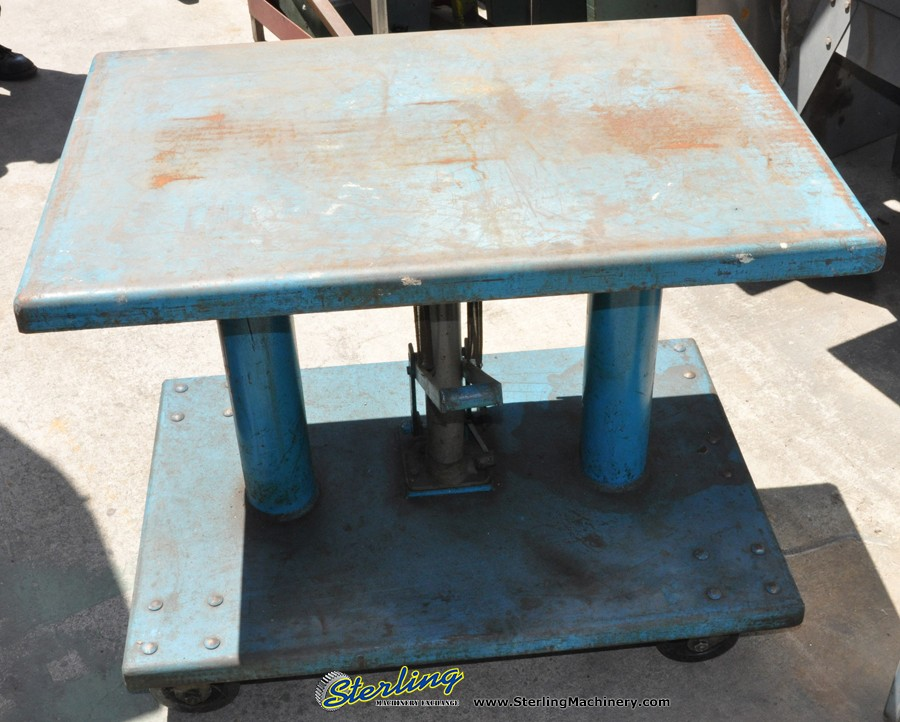 Used Hydraulic Lift Tables : Used herkules hydraulic lift table sterling machinery
