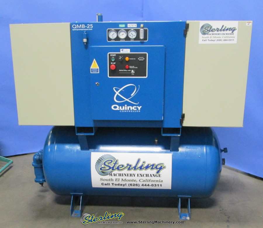 Used Quincy Rotary Screw with Sound Enclosure Air Compressor - Air