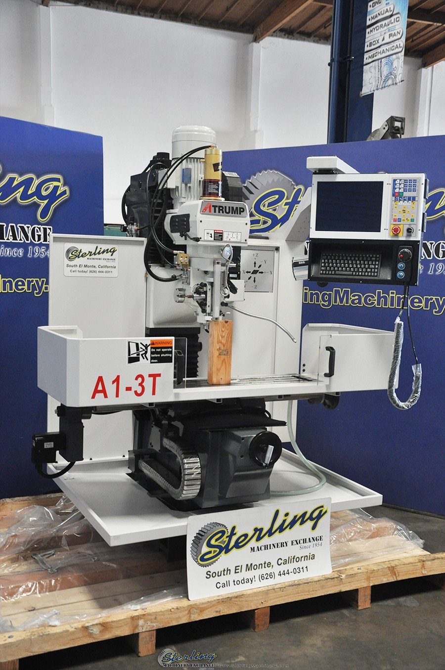 Brand New Atrump Cnc Bed Milling Machine Sterling Machinery