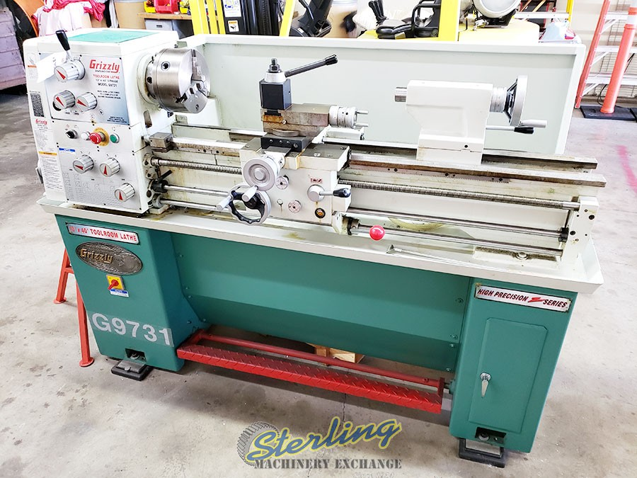 Used Lathes Engine Lathe For Sale Precision Lathes Tool Room >> Used Grizzly Tool Room Lathe With Tooling Engine Lathes Sterling