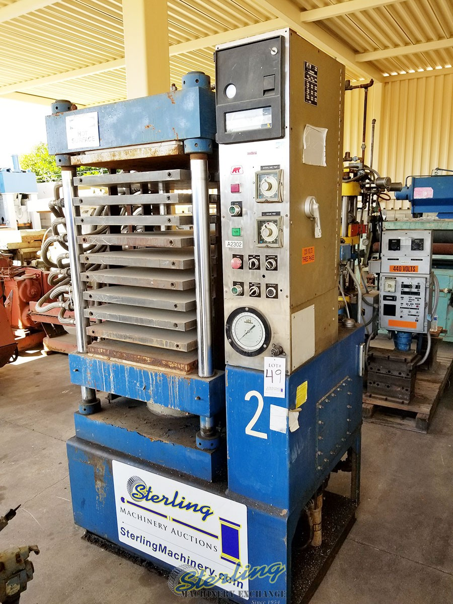 Used PHI Credit Card 4 Post Hydraulic Laminating Press With