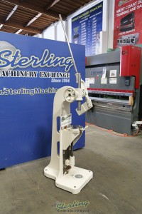 Used Greenerd Ratchet Arbor Press With Adjustable Table