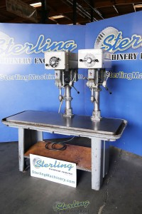 Used Delta/Rockwell 2 Head Gang Drill Press w/Table