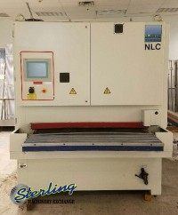 Used Hans Weber Schleiftechnik Wet Belt Grinder With Oscillating Heads For Laser Cut Metal Pieces