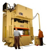 We Carry Custom Made Brand New Beckwood Hydraulic 4 Post Presses and Powder Presses