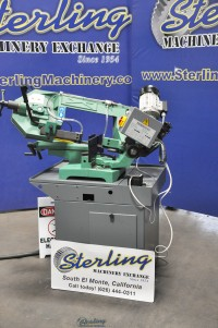 Brand New Pedrazzoli Brown Industrial Manual Pull Down Horizontal (SWIVEL HEAD) Band Saw with Base