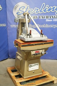 Used Pedersen Hydraulic Clicker Press Swing Head