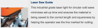 Scotchman- Blade Guide Laser Light (Factory Installed) CPO275 Series Coldsaws