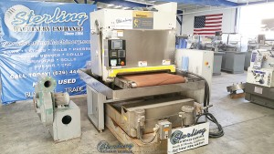 Used Timesavers Wet Belt Grinder (METAL GRINDER) (Parts Machine)  Has New Belt and Table.