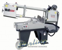 Brand New Wellsaw Horizontal Semi-Automatic Miter Head (Swivel) Bandsaw with Extended Capacity