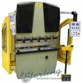 Brand New U.S. Industrial Hydraulic Press Brake with Simple CNC for Back Gauge & Ram Programming