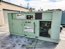 350 H.P. USED SULLAIR TWO-STAGE EXTREME PRESSURE ROTARY SCREW AIR COMPRESSORS WITH ENCLOSURE