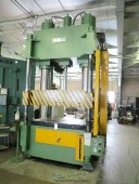 "Used Sutherland 4 Post Hydraulic Down Acting Press ""Excellent Condition"" LOW PROFILE w/ 48"" STROKE!"