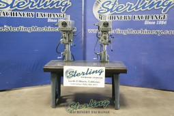 Used Clausing 2 Head Drill Press and Heavy Duty Table