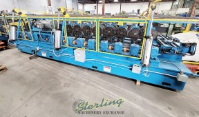 """Used Bradbury Rollformer, Coil Straightener, Coil Reel, Punch, Nibble, Notch and Shear System Complete Forming Roll Forming Line """"Great for HVAC Frames for Heating and Air Conditioning."""""""