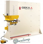 Brand New Geka Puma Series Hydraulic (Deep Throat) Ironworker Single End Punch with 5 Power Settings