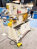 Brand New Geka Dual Cylinder Hydraulic (Deep Throat) Ironworker with Bending Station