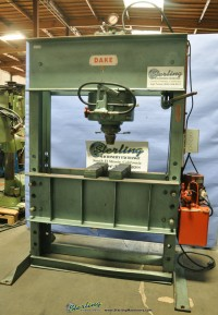 used dake hydraulic h frame press 125H