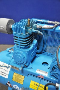 used quincy northwest air horizontal piston type compressor with tank QT-7.5-80H