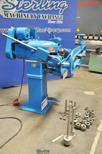used niagara power rotary crimping & beading machine with circle shear flanging attachment 180