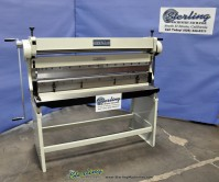 brand new birmingham manual 3 in 1 machine with stand- shear, press brake, box and pan brake, slip roll with stand SBR-5216-C