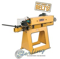 brand new baileigh abrasive belt notcher