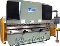 brand new u.s. industrial hydraulic press brake with front operated power back gauge & power ram adjust USHB125-13HM