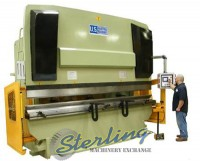 brand new u.s. industrial hydraulic press brake with front operated power back gauge & power ram adjust USHB330-13HM