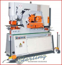 brand new u.s. industrial hydraulic ironworker with dual operator stations USHI-125T-DO