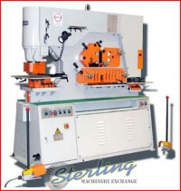 brand new u.s. industrial hydraulic ironworker with dual operator stations USHI-90T-DO
