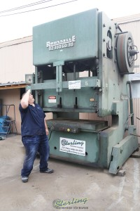 used rousselle heavy duty gap frame double crank inclinable press B2-300-60-30