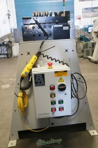 used p/a industries flip top roll straightener (like new condition) SS49LAS