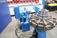 used grotnes multi segmented expander for ring expansion on appliance housings, bearing retainer rings, blower and fan housings, metal containers to heavy jet engine rings, glangers and motor generator frames and pipe couplings 4-HE-10