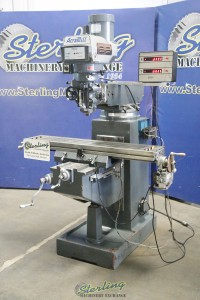 used acra vertical milling machine with variable speed head PK