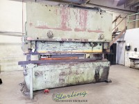 used htc hydraulic press brake (heavy duty) all above ground!!  no pit required 300H