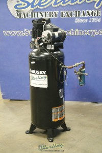 used husky vertical air compressor with tank - single phase C602H