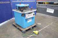used euromac hydraulic variable angle power notcher with press brake attachment on rear 220 / 6VA