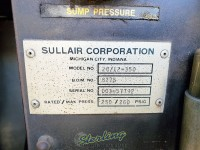 used sullair two-stage extreme pressure rotary screw air compressors with enclosure LS20TS-350A