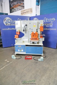 used baileigh dual operation 5 station ironworker- punch, angle, flat and bar shear, notcher, (great condition- baileigh authorized distributor guarantee) SW-95