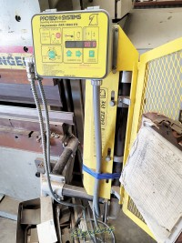used accurpress cnc hydraulic press brake (3 axis backgauge with power r axis) (guaranteed  by dealer) 717514