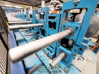 used bradbury rollformer, coil straightener, coil reel, punch, nibble, notch and shear system complete forming roll forming line