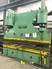 used 500 ton x 12' cincinnati hydraulic press brake located in tennessee, in movers warehouse ready to ship 500H